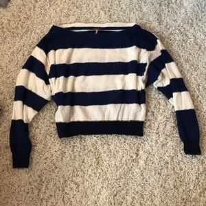 NEW Free People Navy Off The Shoulder Top